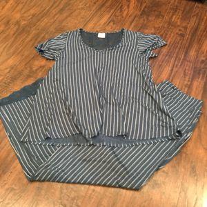 Soma dusty blue striped soft stretchy pajama set